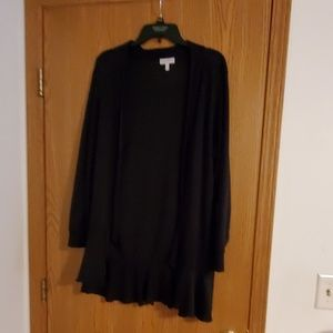 Black cardigan..very nice over a dress or blouse